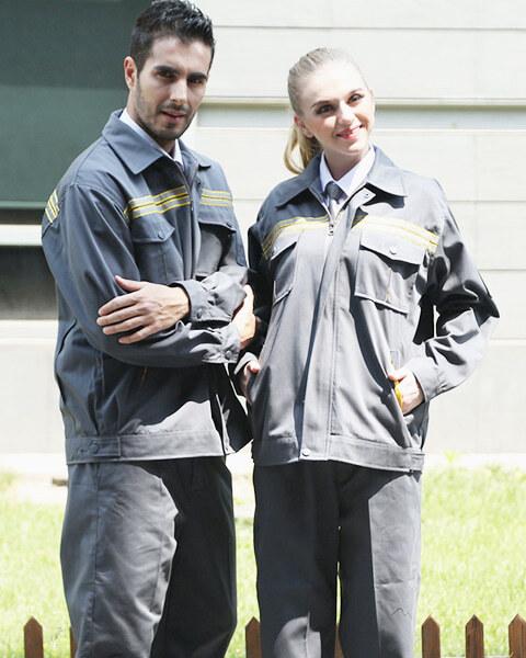 May quần áo đồng phục bảo hộ lao động cho công nhân cơ khí xây dựng